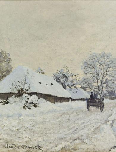La charrette. Route sous la neige à Honfleur (vers 1867) - olio su tela; 65x93 cm; inv. RF 2011 - Paris, Musée d'Orsay - © RMN-Grand Palais (musée d'Orsay) / Patrice Schmidt