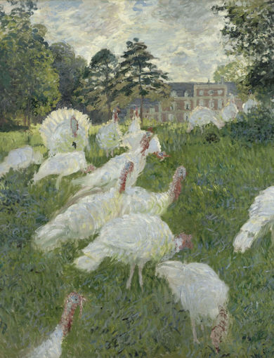 Les dindons (1877) - olio su tela; 174x172,5 cm; inv. RF 1944 18 - Paris, Musée d'Orsay - © RMN-Grand Palais (musée d'Orsay) /René-Gabriel Ojéda