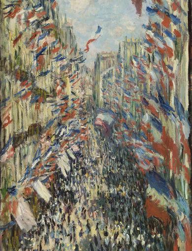 La rue Montorgueil, à Paris. Fête du 30 juin 1878 (1878) - olio su tela; 81x50 cm; inv. RF 1982 71 - Paris, Musée d'Orsay - © RMN-Grand Palais (musée d'Orsay) /Patrice Schmidt