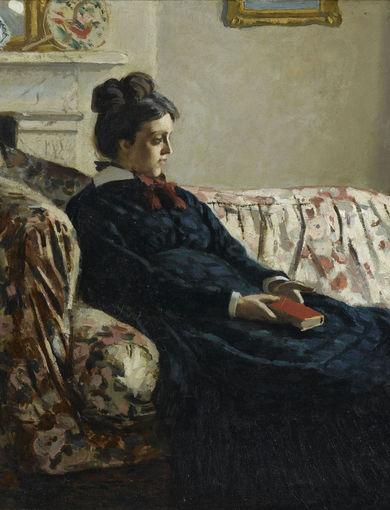 Méditation. Madame Monet au canapé (vers 1871) - olio su tela; 48,2x74,5 cm; inv. RF 3665 - Paris, Musée d'Orsay - © RMN-Grand Palais (musée d'Orsay) /Gérard Blot