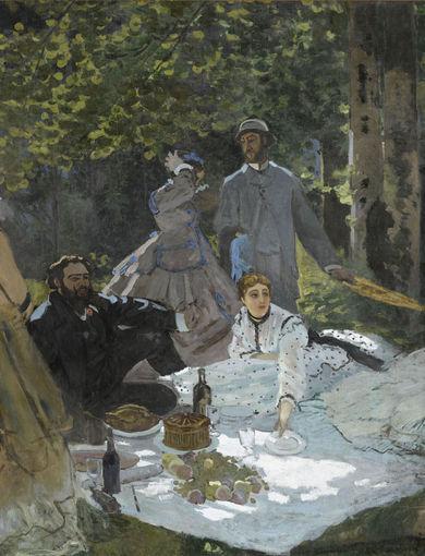 Le déjeuner sur l'herbe (entre 1865 et 1866) - olio su tela; 248,7x218 cm; inv. RF 1987 - Paris, Musée d'Orsay - © RMN-Grand Palais (musée d'Orsay) /Benoît Touchard