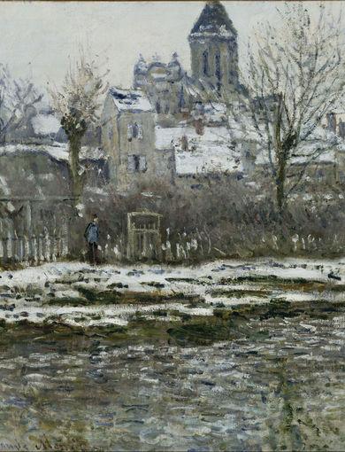 Effet de neige à Vétheuil (entre 1878 et 1879) - olio su tela; 52,5x71 cm; inv. RF 3755 - Paris, Musée d'Orsay - © RMN-Grand Palais (musée d'Orsay) /Hervé Lewandowski