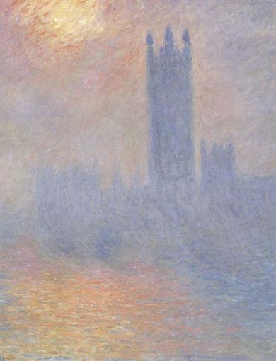 Londres, le Parlement. Trouée de soleil dans le brouillard (1904) - olio su tela; 81,5x92,5 cm; inv. RF 2007 - Paris, Musée d'Orsay - © RMN-Grand Palais (musée d'Orsay) /Hervé Lewandowski