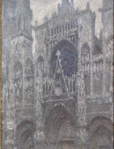 La cathédrale de Rouen. Le portail, temps gris (vers 1892) - olio su tela; 100,2x65,4 cm;inv. RF 1999 - Paris, Musée d'Orsay - © RMN-Grand Palais (musée d'Orsay) /Patrice Schmidt