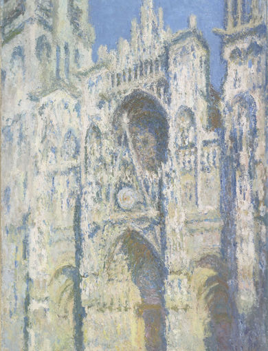 La cathédrale de Rouen. Le portail et la tour Saint-Romain, plein soleil (en 1893) - olio su tela; 107x73,5 cm; inv. RF 2002 - Paris, Musée d'Orsay - © RMN-Grand Palais (musée d'Orsay) /Patrice Schmidt