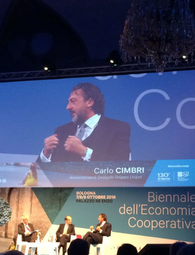 Carlo Cimbri at Biennale Economia