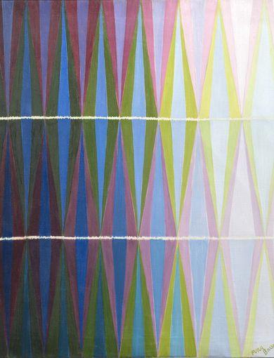 Giacomo Balla - Compenetrazione iridescente n. 7, 1912 - olio su tela - 76.7 x 77 cm - GAM – Galleria Civica d'Arte Moderna e Contemporanea, Torino