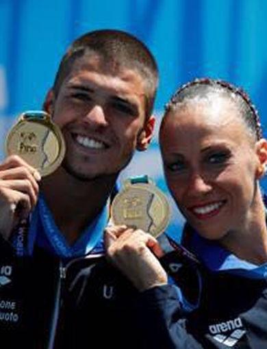 M. Flamini e G. Minisini - gold medal duo misto tecnico