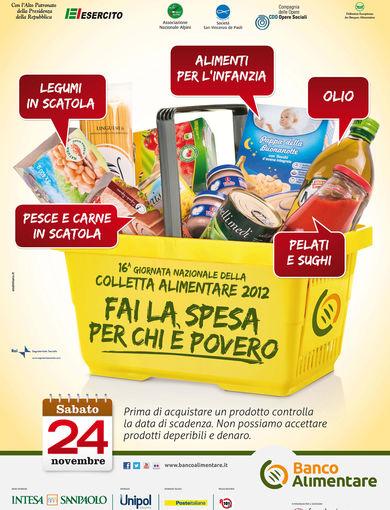 Manifesto 16^ giornata nazionale della colletta alimentare 2012