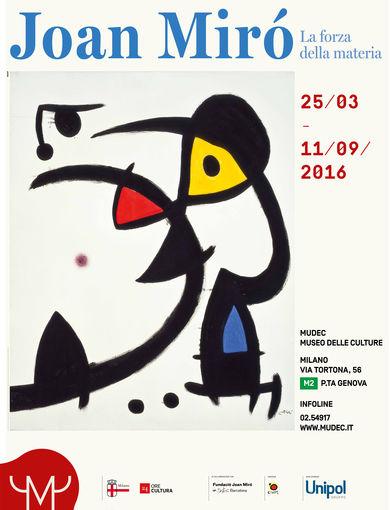 Locandina Mostra Joan Miró. La forza della materia