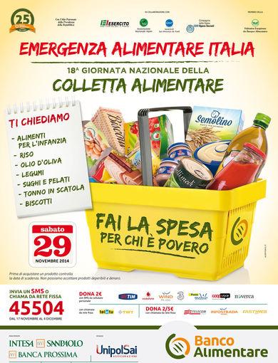 Manifesto 18^ giornata nazionale della colletta alimentare 2014