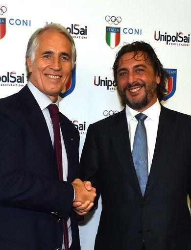 Giovanni Malagò and Carlo Cimbri