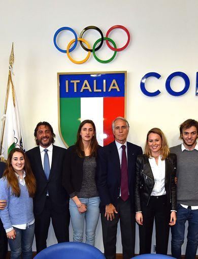 Giovanni Malagò, Carlo Cimbri e il Team Young Italy